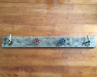 Reclaimed Barnwood Water Valve Coat Rack