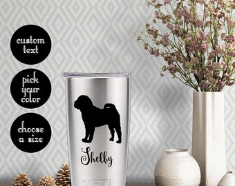 Chinese Shar-Pei Solid Decal with customizeable name text