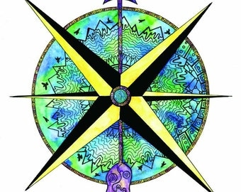 Wanderlust World Compass - Follow Your Arrow Art Print