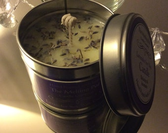 Lavender Handpoured soy candle tin