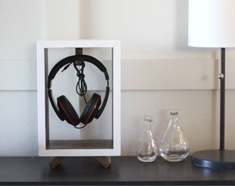 Headphone Stand - Headphone Holder, Headphone Hanger, Desktop Headphone Stand, Gift for Dad, Gift for Men, Tech Organizer, Tech Gift