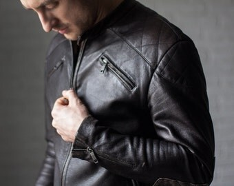 Leather jacket, black leather jacket, mens jacket, biker jacket, biker jacket men, brown leather jacket, vintage motorcycle leather jacket.