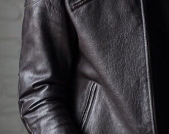 Leather jacket, biker jacket men, mens leather jacket, vintage style mens jacket,