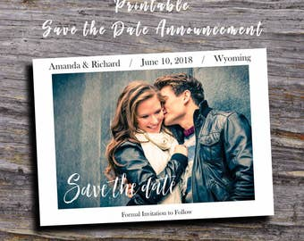 Save The Date Printable, Save The Date Cards, Photo Save The Date, Wedding Save The Date