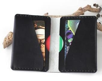 Cardholder wallet leather card holder wallet credit card holder business leather minimalist wallet mens travel wallet cash wallet Free gift