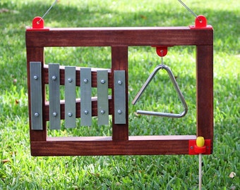 Outdoor Music Station Triangle and Xylophone