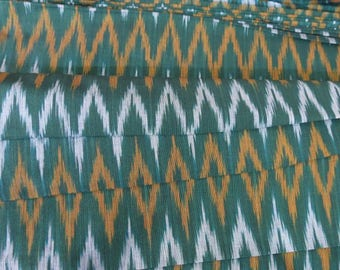 Green Ikat Fabric By The Yard