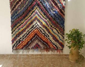 Unique boucharouite moroccan rug,