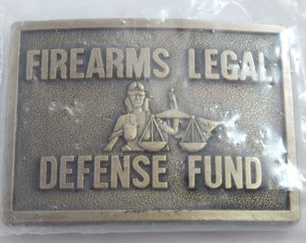 Vintage Brass Belt Buckle 1980's