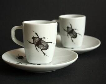 Set of espresso cups   Beetles