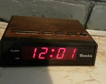 Westclox, Alarm clock, battery back up, vintage Westclox