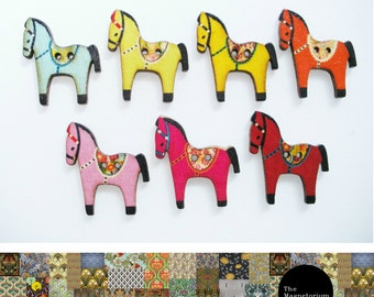 Horse Fridge Magnet Set