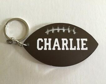 Personalized Football keychain, Personalized Football, Personalized Keychain
