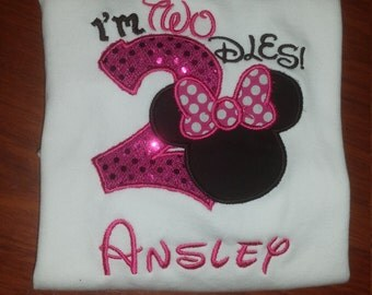 I'm TWOdles Minnie Mouse Birthday shirt