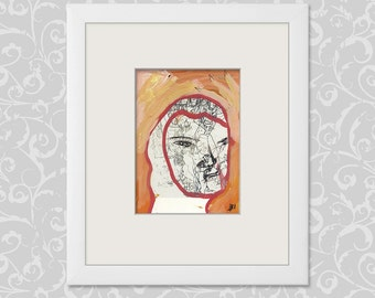 Abstract images, small portraits (h b 14.8 x 10.5 cm / 5.85 x 4.13 inch - portrait format DIN A6)