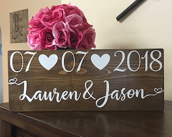 Save the Date Sign-Wedding date sign-Personalized sign-Engagement Photo prop-Wood Sign-Custom Wedding Gift-Keepsake-Engagement Gift
