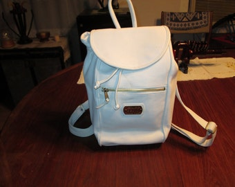 Vintage Backpack / Purse, Special Edition BBNY White leather appearance