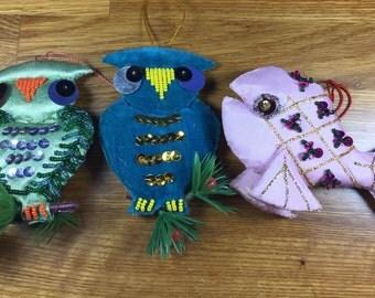 Velvet/ Satin Ornaments