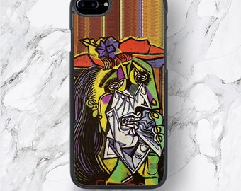 iPhone 7 Plus Pablo Picasso The Weeping Woman Cases, Oil Painting Art iPhone 7 Covers, iPhone 6 Case, iPhone 6 + Covers