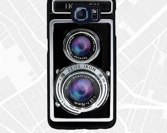 Galaxy S8 Plus Retro Ikoflex Twin Lens Camera Case, Vintage 70s 80s Camera S5 mini cover, S8+ S7 Edge S6 active phone case for photographer