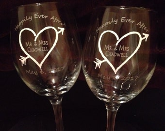 Customized 20 oz. wine glasses (set of 2)