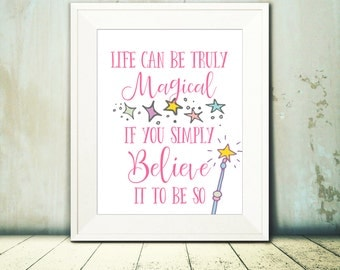11x14 Magical Quote - Nursery and Room Decor