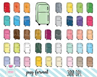 43 Doodle Fridge Clipart. Personal and comercial use.