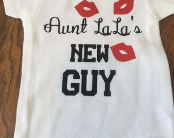 Aunt (fill in the blank) new guy onesie