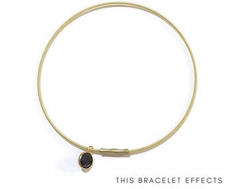SELF WORTH Bracelet Guitar String Charm Bangle