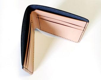 Black Leather Wallet // Men's Wallet // Billfold // Bi-fold // Leather // Mens Wallet