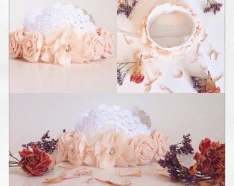 Flower & Lace Crown