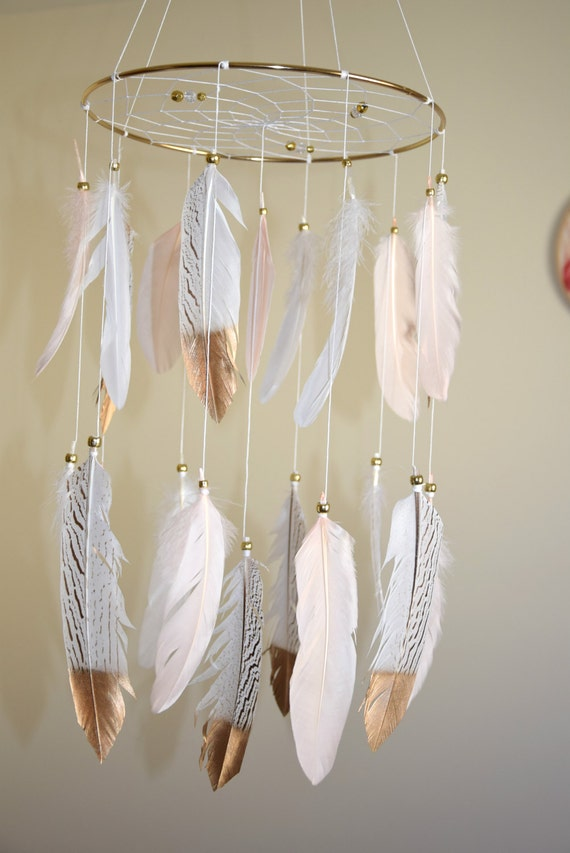 Baby Mobile Dream Catcher Feathers Mobile Baby Girl