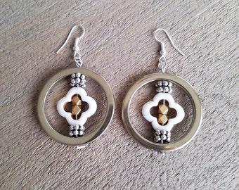 Clover Hematite Earrings