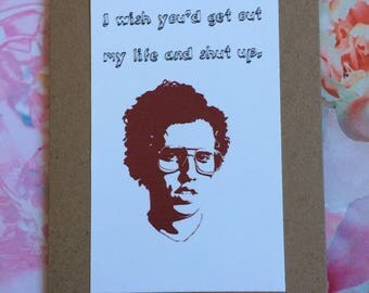Cult Classic Movie Card - Napoleon Dynamite Funny Quote Handmade Card / Greeting Card