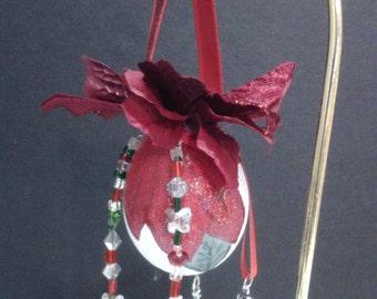 Pretty Poinsettia Ornament