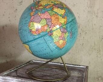 Cram 9 Inch Terrestrial Globe, Vintage World Globe, Scholastic World Globe