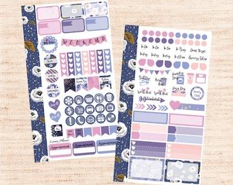 Purple Florals PERSONAL Kit (matte planner sticker, Filofax, Kikki K, Websters Pages, Color Crush)