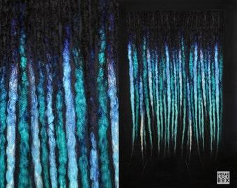 Turquoise Dreadlocks | Dreads | Blue | Synthetic | Crocheted | Pieces 10-100 | SE DE | Alternative Hairstyle | Blue | Black
