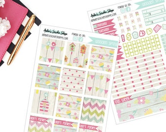 Wooden Spring Weekly Kit for Mini Happy Planner