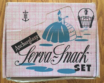Anchorglass Serva Snack Set