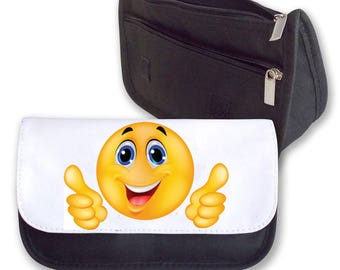 Emoji Smilie THUMBS UP Pencil Case / Clutch or Make up Bag