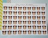 Christmas M&M Tsum Planner Stickers Decorative Edition