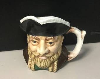 Toby Mug pirate with beard unmarked
