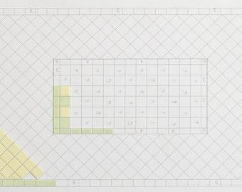 Miniature Tiles  for a bathroom floor 11 inch x 7 1/4 inch