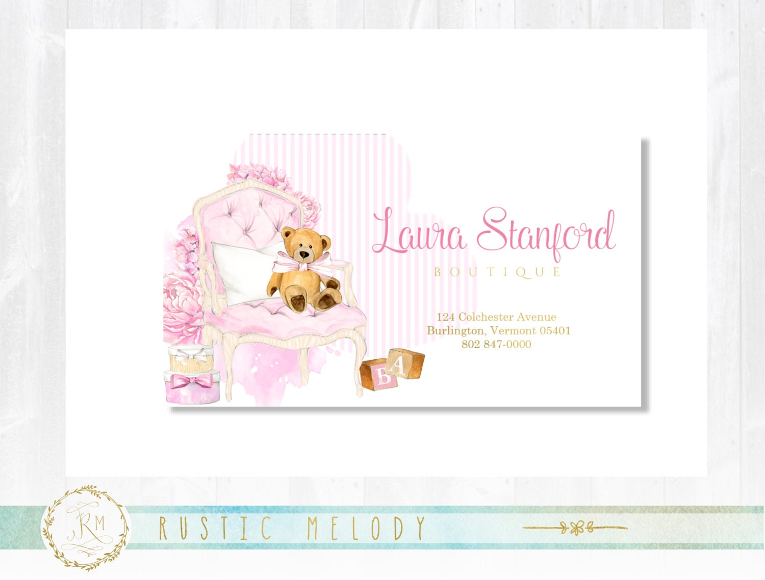 Premade Baby Business Card, Gold Business Card , Baby Business Card ...