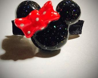 Minnie Mouse Hair Clip   Mickey Mouse Hair Clip   Minnie Mouse Hair Pin   Minnie Mouse   Disney Bow   Mickey Mouse   Minnie Bow   Mickey Bow