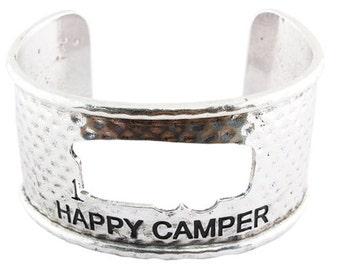 Happy Camper Silver Cuff