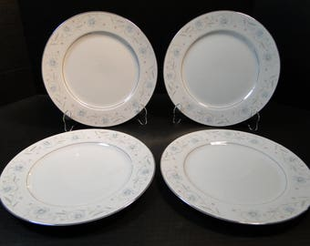 "FOUR Fine China of Japan English Garden 1221 Dinner Plates 10 1/4"" 4 Plates EXCELLENT!"