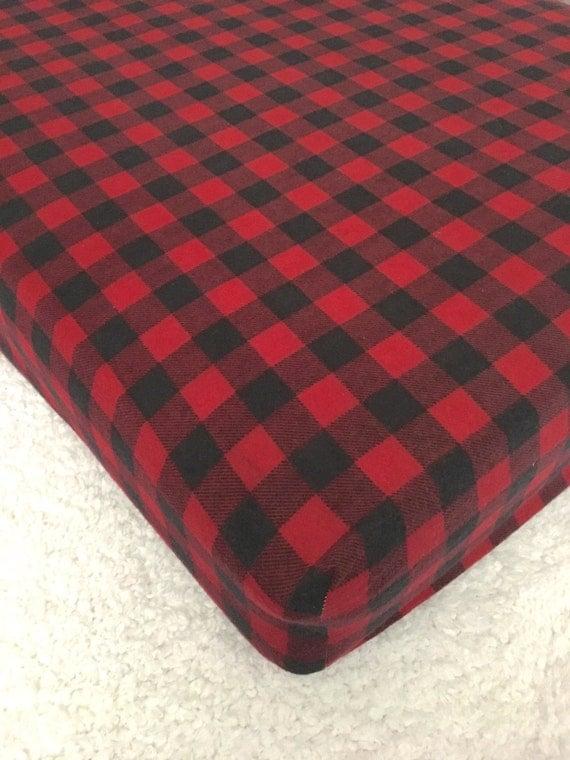 Buffalo Plaid Flannel Sheets Lumberjack Flannel Crib Sheets