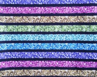 Bling Stripes cloth diaper - AIO cloth diaper - one size cloth diaper - Newborn cloth diaper - hemp bamboo - wahm diaper - sparkle diaper